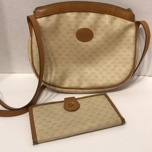 Vintage Gucci Crossbody Bag and GG Wallet.